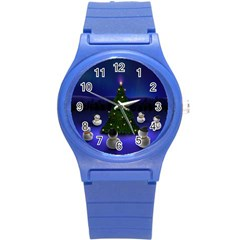 Waiting For The Xmas Christmas Round Plastic Sport Watch (S)