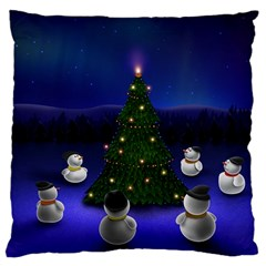 Waiting For The Xmas Christmas Large Cushion Case (Two Sides)