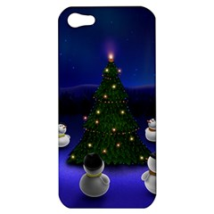 Waiting For The Xmas Christmas Apple iPhone 5 Hardshell Case