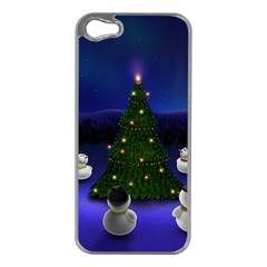Waiting For The Xmas Christmas Apple iPhone 5 Case (Silver)