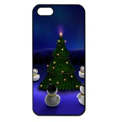 Waiting For The Xmas Christmas Apple iPhone 5 Seamless Case (Black)
