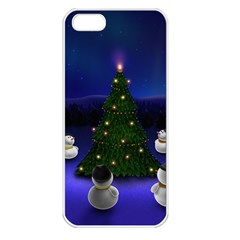 Waiting For The Xmas Christmas Apple iPhone 5 Seamless Case (White)