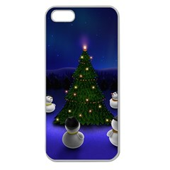 Waiting For The Xmas Christmas Apple Seamless iPhone 5 Case (Clear)