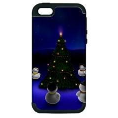 Waiting For The Xmas Christmas Apple iPhone 5 Hardshell Case (PC+Silicone)