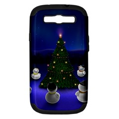 Waiting For The Xmas Christmas Samsung Galaxy S III Hardshell Case (PC+Silicone)