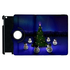 Waiting For The Xmas Christmas Apple iPad 3/4 Flip 360 Case