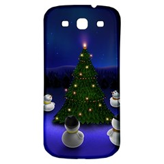 Waiting For The Xmas Christmas Samsung Galaxy S3 S III Classic Hardshell Back Case