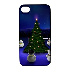 Waiting For The Xmas Christmas Apple iPhone 4/4S Hardshell Case with Stand