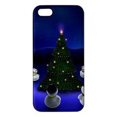 Waiting For The Xmas Christmas Apple iPhone 5 Premium Hardshell Case