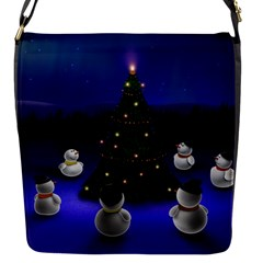 Waiting For The Xmas Christmas Flap Messenger Bag (S)
