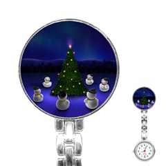 Waiting For The Xmas Christmas Stainless Steel Nurses Watch