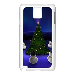 Waiting For The Xmas Christmas Samsung Galaxy Note 3 N9005 Case (White)