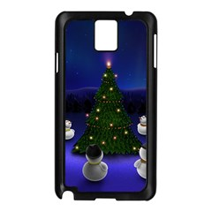 Waiting For The Xmas Christmas Samsung Galaxy Note 3 N9005 Case (Black)