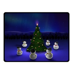Waiting For The Xmas Christmas Double Sided Fleece Blanket (Small)
