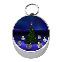 Waiting For The Xmas Christmas Mini Silver Compasses