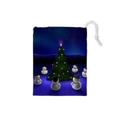 Waiting For The Xmas Christmas Drawstring Pouches (Small)