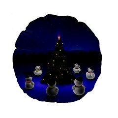 Waiting For The Xmas Christmas Standard 15  Premium Flano Round Cushions