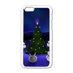Waiting For The Xmas Christmas Apple iPhone 6/6S White Enamel Case