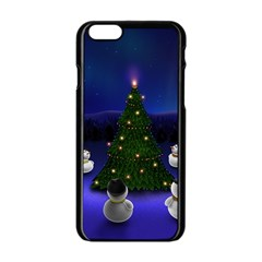 Waiting For The Xmas Christmas Apple iPhone 6/6S Black Enamel Case