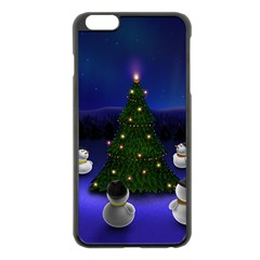 Waiting For The Xmas Christmas Apple iPhone 6 Plus/6S Plus Black Enamel Case