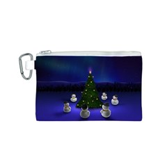 Waiting For The Xmas Christmas Canvas Cosmetic Bag (S)