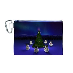 Waiting For The Xmas Christmas Canvas Cosmetic Bag (M)