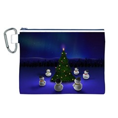 Waiting For The Xmas Christmas Canvas Cosmetic Bag (L)