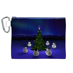Waiting For The Xmas Christmas Canvas Cosmetic Bag (XL)