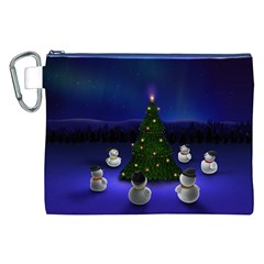 Waiting For The Xmas Christmas Canvas Cosmetic Bag (XXL)