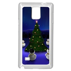 Waiting For The Xmas Christmas Samsung Galaxy Note 4 Case (White)
