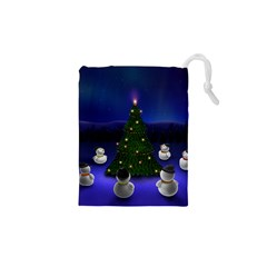 Waiting For The Xmas Christmas Drawstring Pouches (XS)