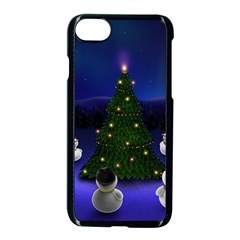 Waiting For The Xmas Christmas Apple iPhone 7 Seamless Case (Black)
