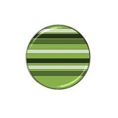 Greenery Stripes Pattern Horizontal Stripe Shades Of Spring Green Hat Clip Ball Marker (10 pack)