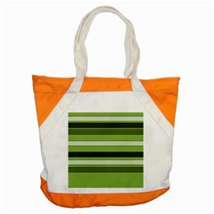 Greenery Stripes Pattern Horizontal Stripe Shades Of Spring Green Accent Tote Bag
