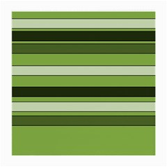 Greenery Stripes Pattern Horizontal Stripe Shades Of Spring Green Medium Glasses Cloth (2-Side)