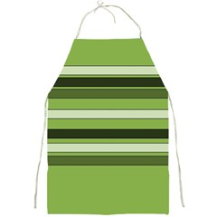 Greenery Stripes Pattern Horizontal Stripe Shades Of Spring Green Full Print Aprons