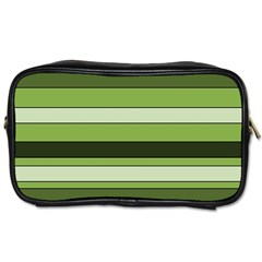 Greenery Stripes Pattern Horizontal Stripe Shades Of Spring Green Toiletries Bags