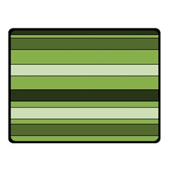 Greenery Stripes Pattern Horizontal Stripe Shades Of Spring Green Fleece Blanket (Small)