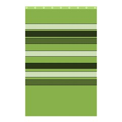 Greenery Stripes Pattern Horizontal Stripe Shades Of Spring Green Shower Curtain 48  x 72  (Small)