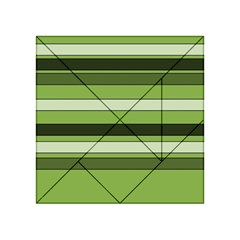Greenery Stripes Pattern Horizontal Stripe Shades Of Spring Green Acrylic Tangram Puzzle (4  x 4 )