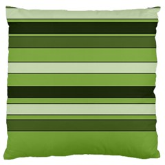 Greenery Stripes Pattern Horizontal Stripe Shades Of Spring Green Large Cushion Case (One Side)
