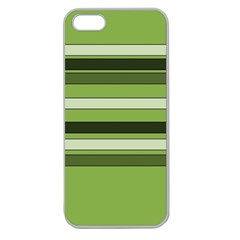 Greenery Stripes Pattern Horizontal Stripe Shades Of Spring Green Apple Seamless iPhone 5 Case (Clear)