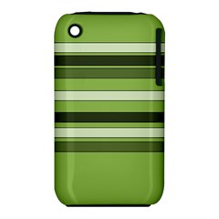 Greenery Stripes Pattern Horizontal Stripe Shades Of Spring Green iPhone 3S/3GS