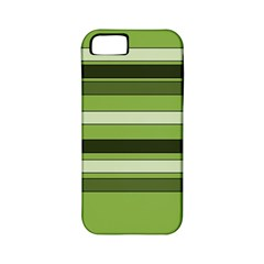 Greenery Stripes Pattern Horizontal Stripe Shades Of Spring Green Apple iPhone 5 Classic Hardshell Case (PC+Silicone)