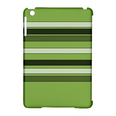 Greenery Stripes Pattern Horizontal Stripe Shades Of Spring Green Apple iPad Mini Hardshell Case (Compatible with Smart Cover)