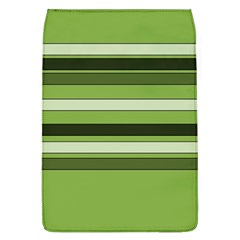 Greenery Stripes Pattern Horizontal Stripe Shades Of Spring Green Flap Covers (L)