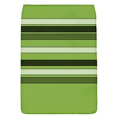 Greenery Stripes Pattern Horizontal Stripe Shades Of Spring Green Flap Covers (S)