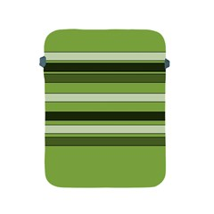 Greenery Stripes Pattern Horizontal Stripe Shades Of Spring Green Apple iPad 2/3/4 Protective Soft Cases