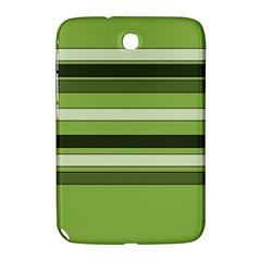 Greenery Stripes Pattern Horizontal Stripe Shades Of Spring Green Samsung Galaxy Note 8.0 N5100 Hardshell Case