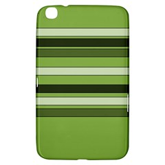 Greenery Stripes Pattern Horizontal Stripe Shades Of Spring Green Samsung Galaxy Tab 3 (8 ) T3100 Hardshell Case